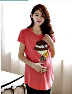 Cute Korean design Maternity shirt